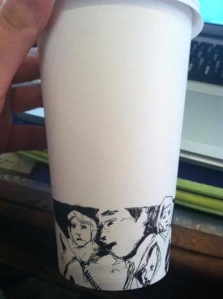 drawing - paper cup