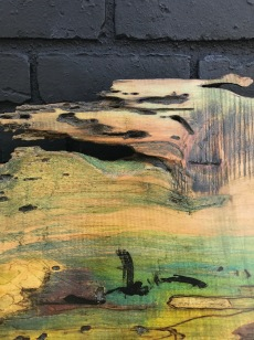 Close up of wood stain series
