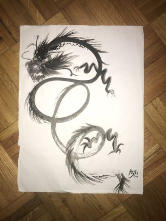 Sumi ink dragon